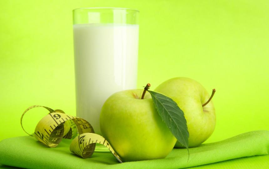 Кефирно яблочный разгрузочный день