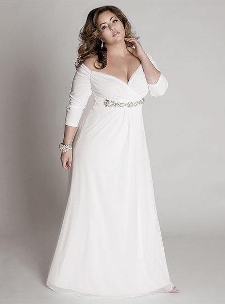 Свадебное  в стиле ампир для полных