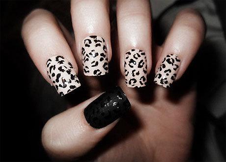 Ногти дизайн черные с белым