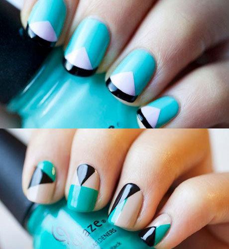 Дизайн квадратные короткие ногти