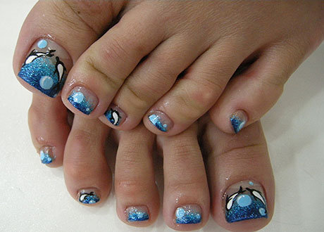 Дизайн ногтей для педикюра