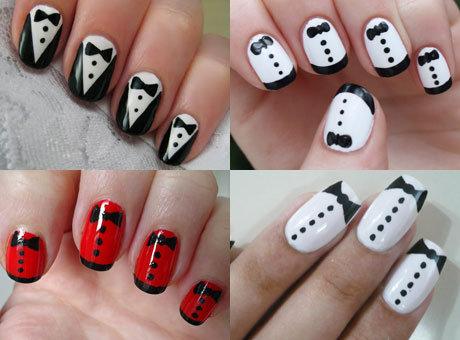 Рисунки на белом лаке на ногтях в домашних условиях