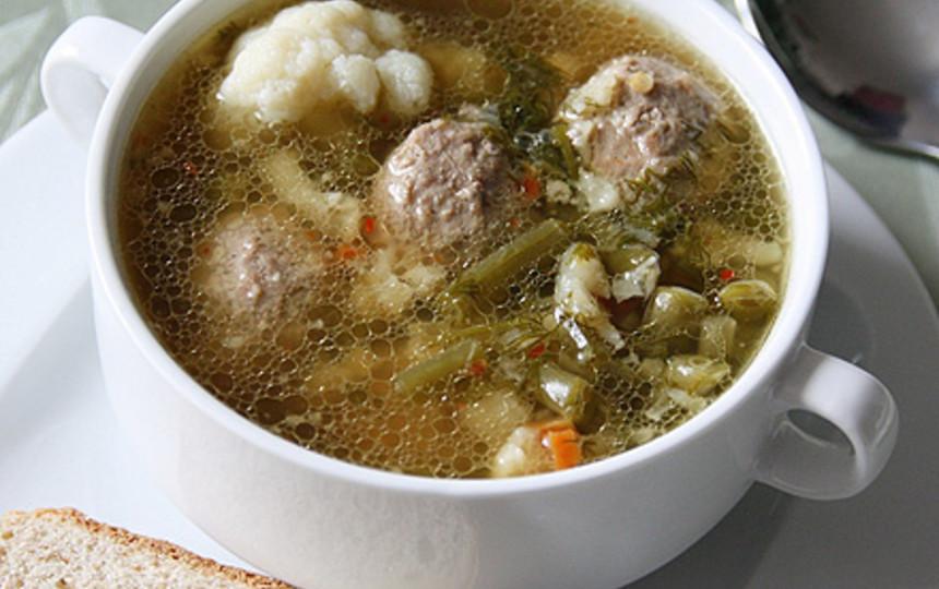 суп с фрикадельками и цветной капустой рецепт