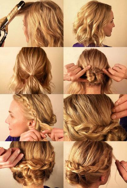 Причёски с на средние волосы
