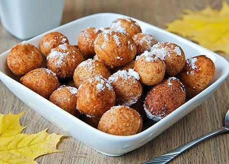 рецепт пончиков при помощи формы цветочек