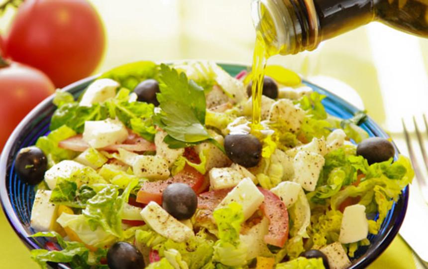 Греческий салат с грибами рецепт