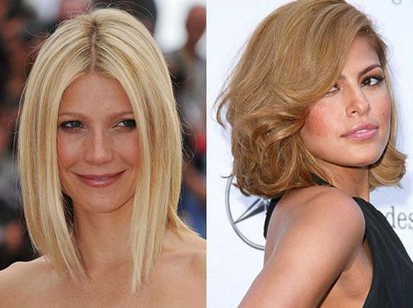Стрижки на средние волосы для узкого лица