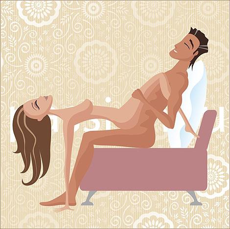 Позы для секса на диване с женой