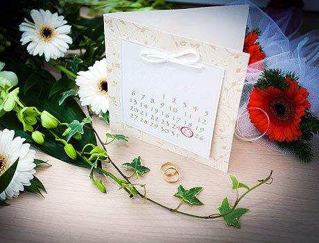 Обозначение даты свадьбы
