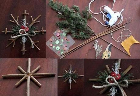 Новогодние украшения из подручных средств своими руками