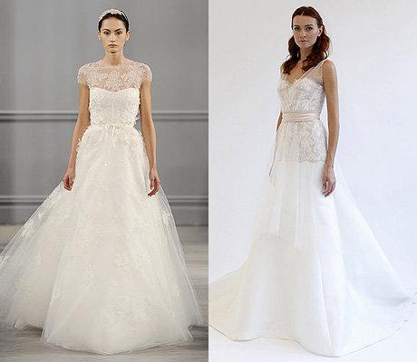 Свадебные платья из блестящей ткани