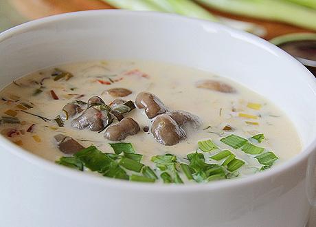 сырный грибной вешенки суп рецепт