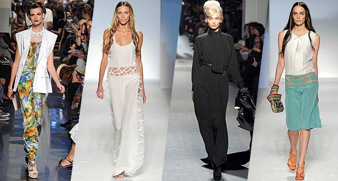 Модный тренд 2012: широкие брюки новые фото