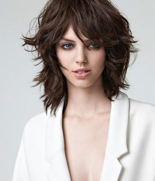 Стрижка шегги на кудрявые волосы