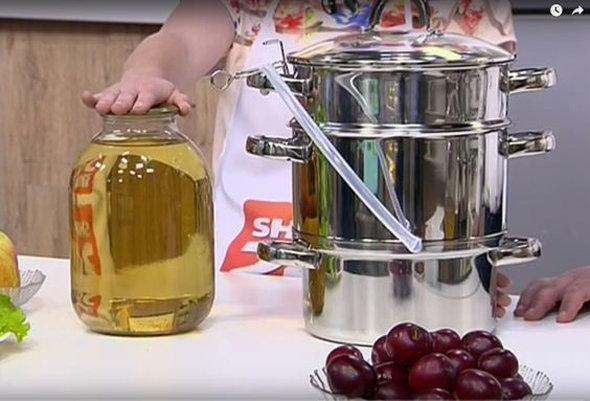 Варить яблочный сок соковаркой