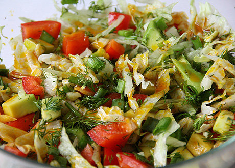 Салат летний с капусты рецепт