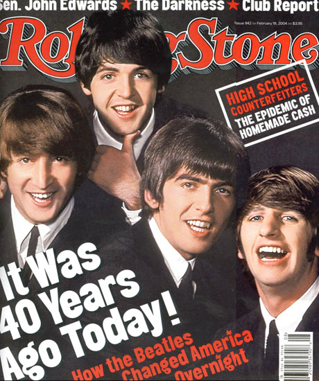 Группа The Beatles на обложке журнала Rolling Stone / splashnews.com