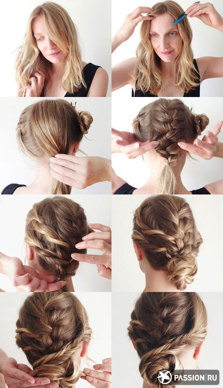 Hairstyle that combines direct and harnesses, and braids, attracts the attention: it seems that it under force unless...