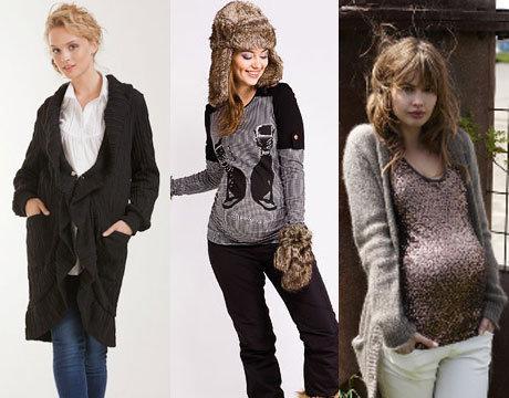 Зимние пуховики для беременных — лучшие модели 2012-2013