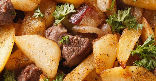 Рецепты в картинках мясо с картошкой